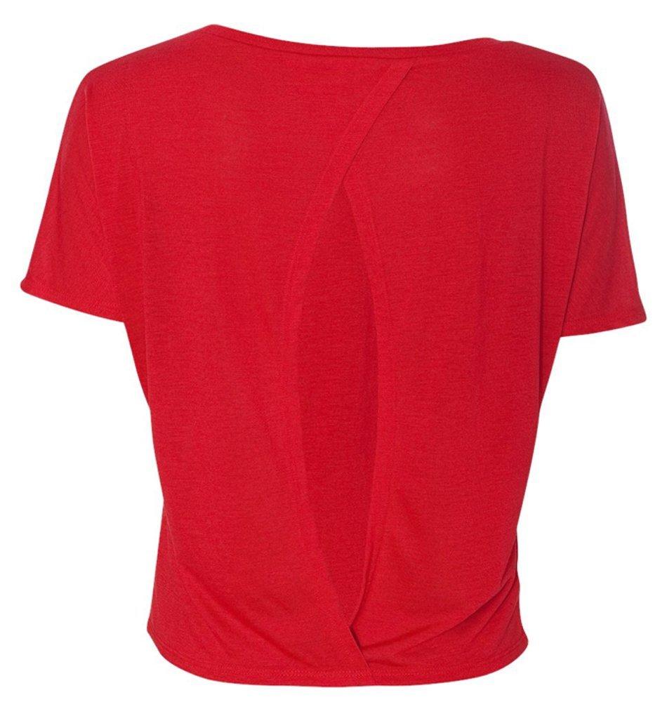 Bella-Women-039-s-Cutout-Back-Flowy-T-Shirt thumbnail 12