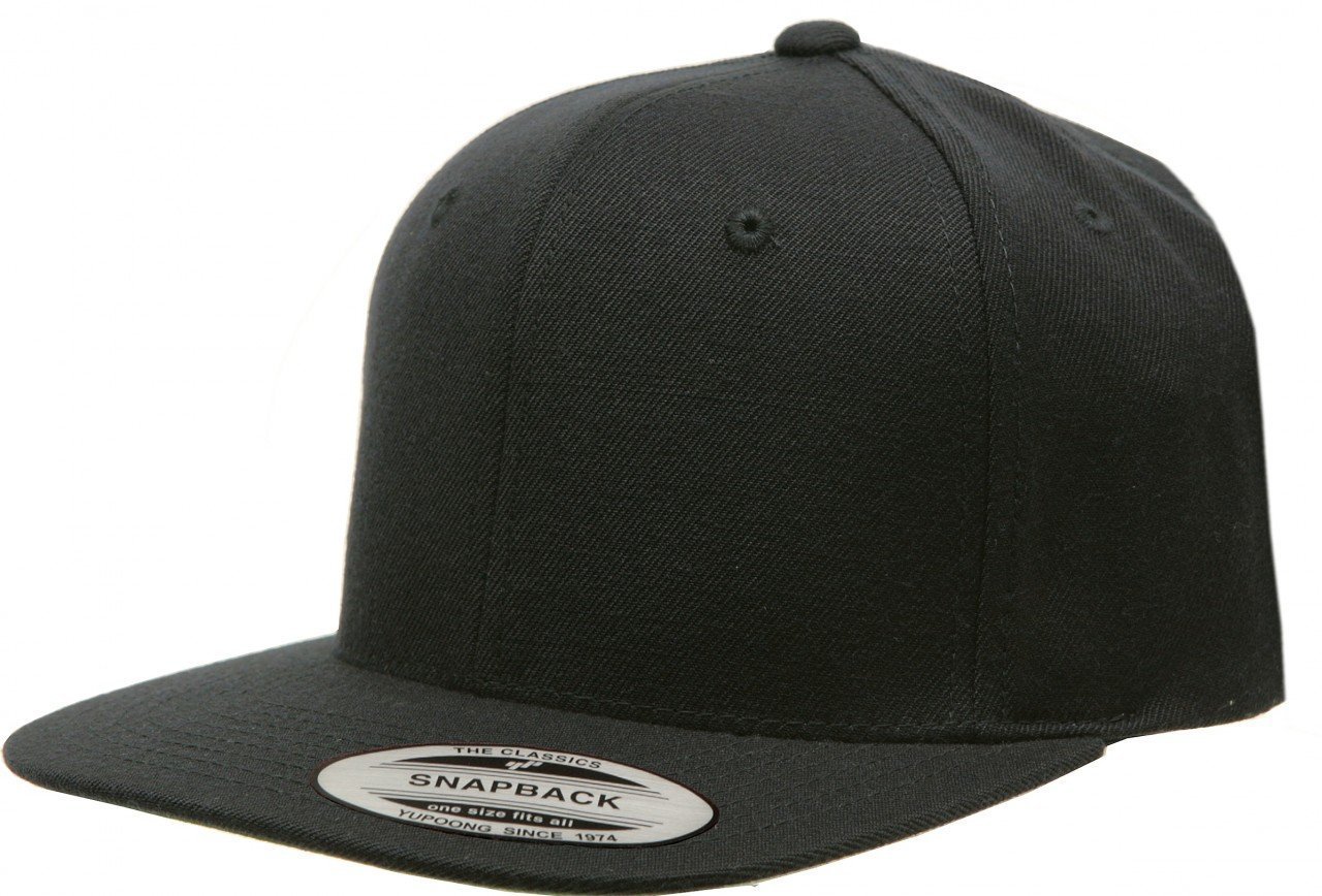 8e97b9a57 Details about Yupoong Pro-Style Wool Blend Snap Back Blank Hat Baseball Cap  6098M - Black