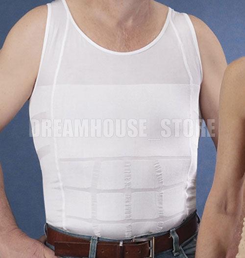 8791920a69 Men Body Slimming Tummy Shaper Vest Belly Waist Girdle Shirt ...