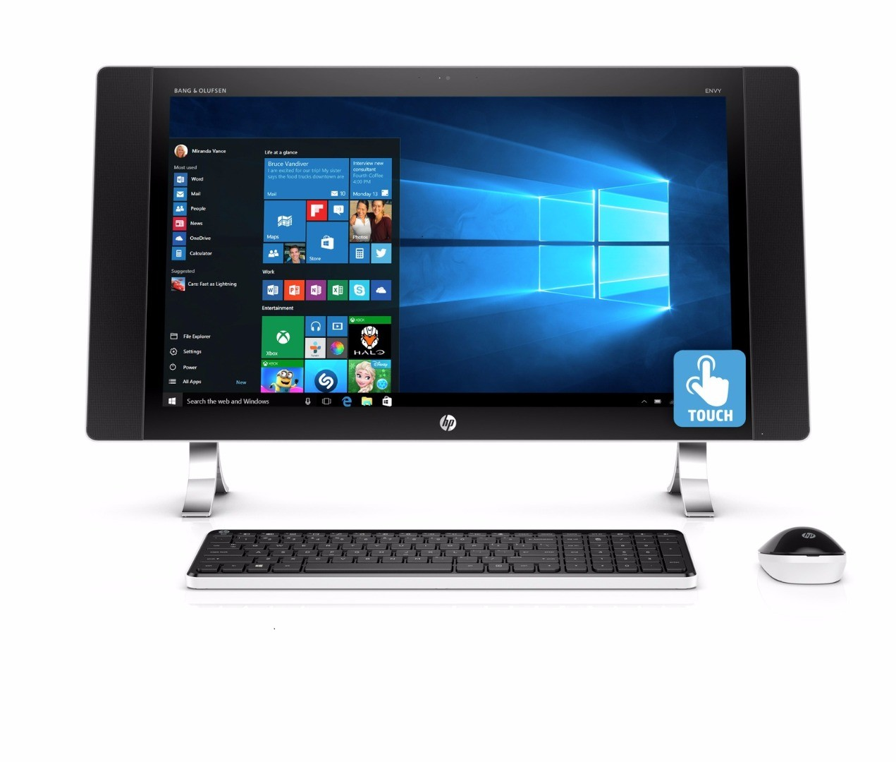 hp envy 27 p014 27 touch aio desktop intel i5 6400t 2 2ghz 12gb 1tb window 10 ebay. Black Bedroom Furniture Sets. Home Design Ideas