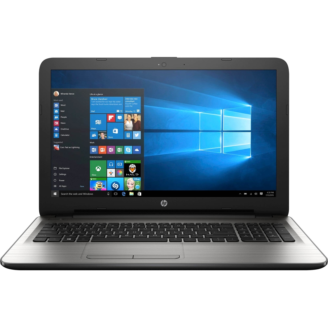 hp 15 ay077nr 15 6 laptop intel i5 6200u 2 3ghz 6gb ddr3 1tb windows 10 ebay. Black Bedroom Furniture Sets. Home Design Ideas