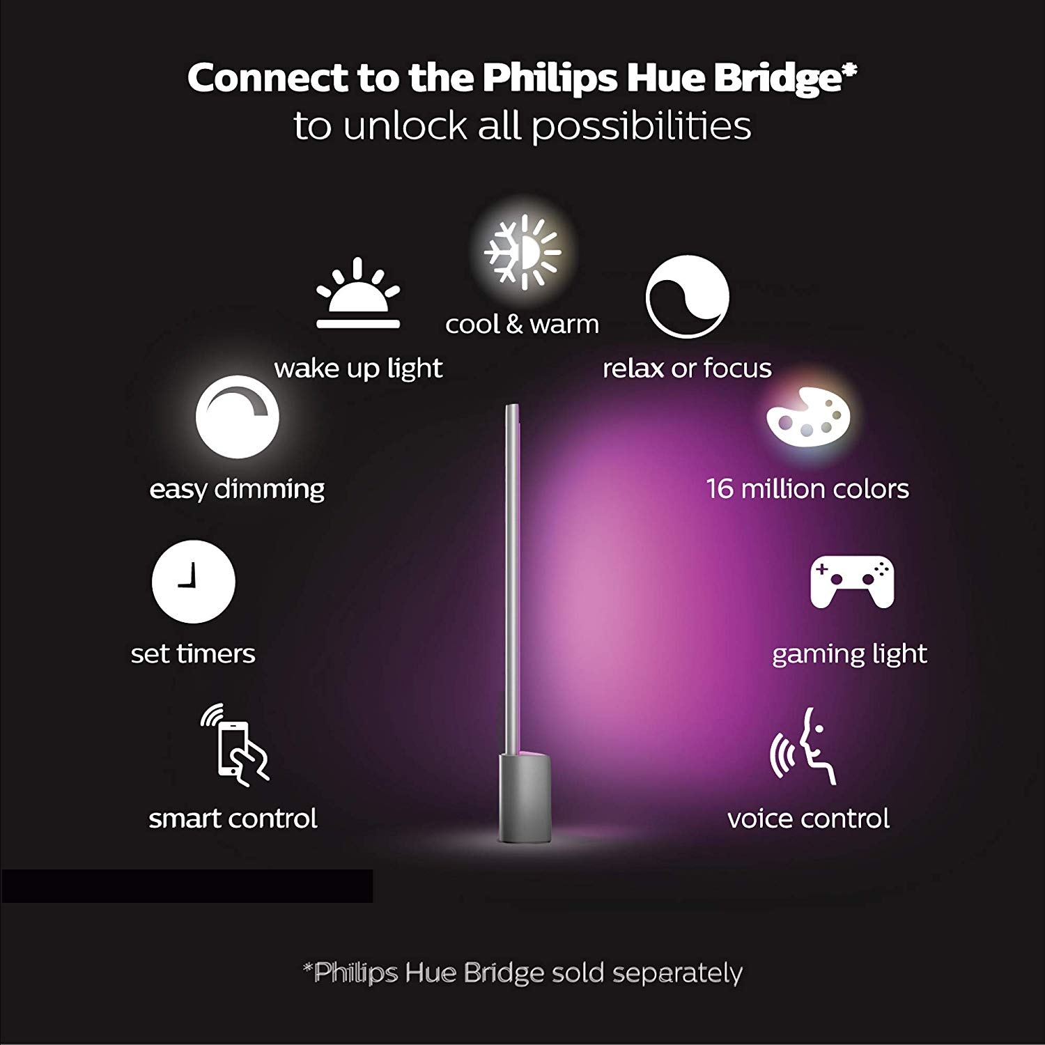 Philips Hue White & Color AMBIANCE Signe Table LAMP ...