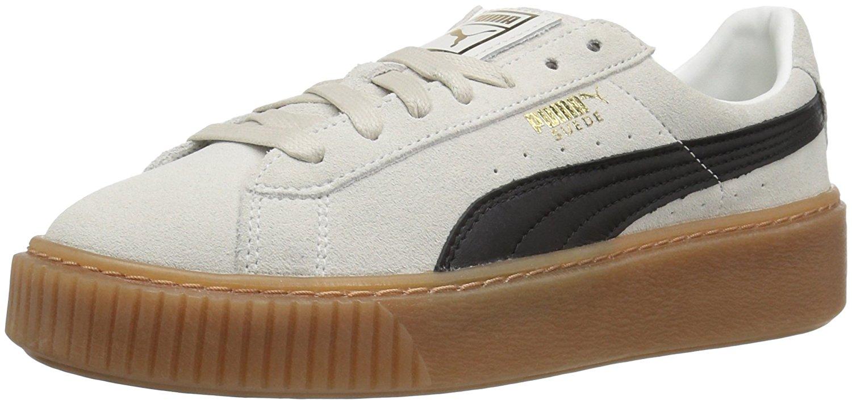 37be8da60d0 Details about PUMA Women s Suede Platform Core Fashion Sneaker Whisper  White-Puma Black