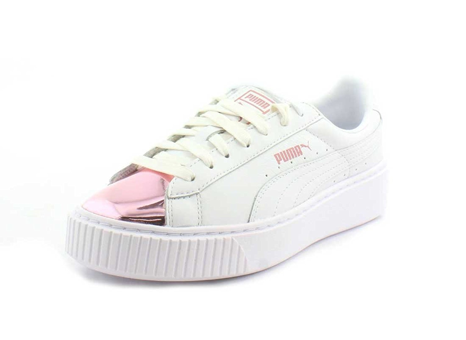 45de957e735b59 PUMA Women s Basket Platform Metallic Fashion Sneaker