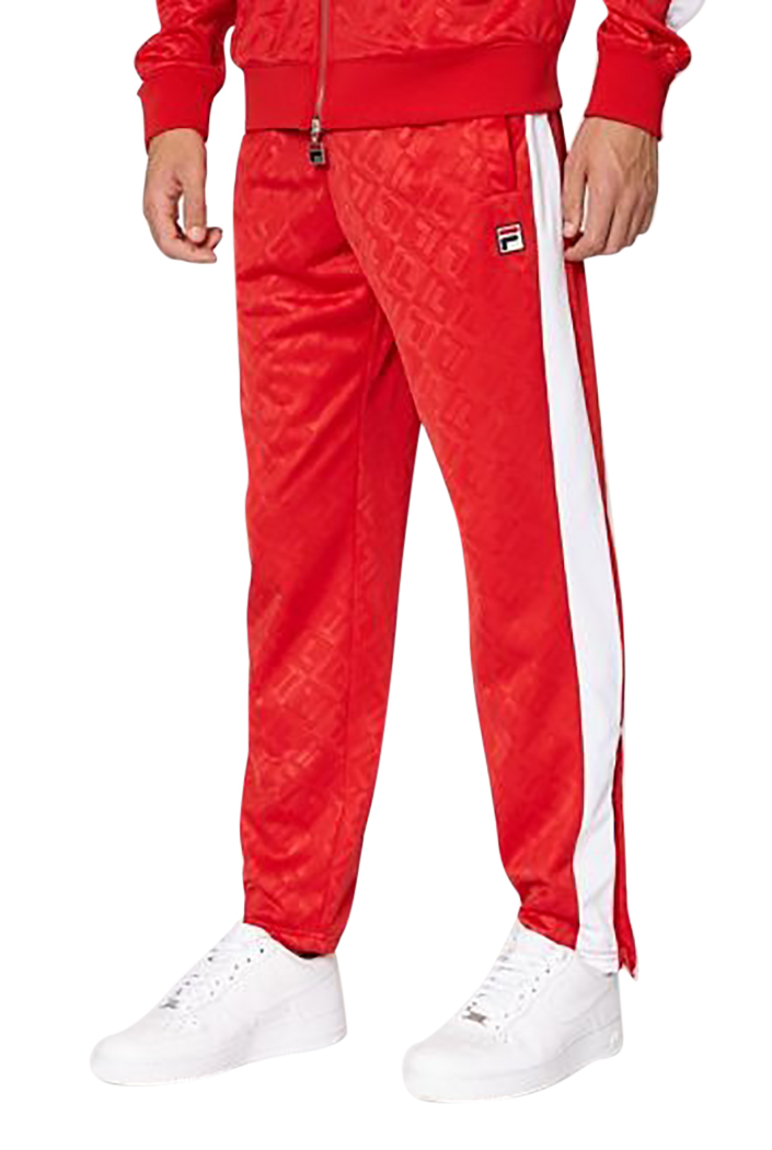 00aca024b5248 Fila Mens Reggie FILA Embossed Track Pants | eBay