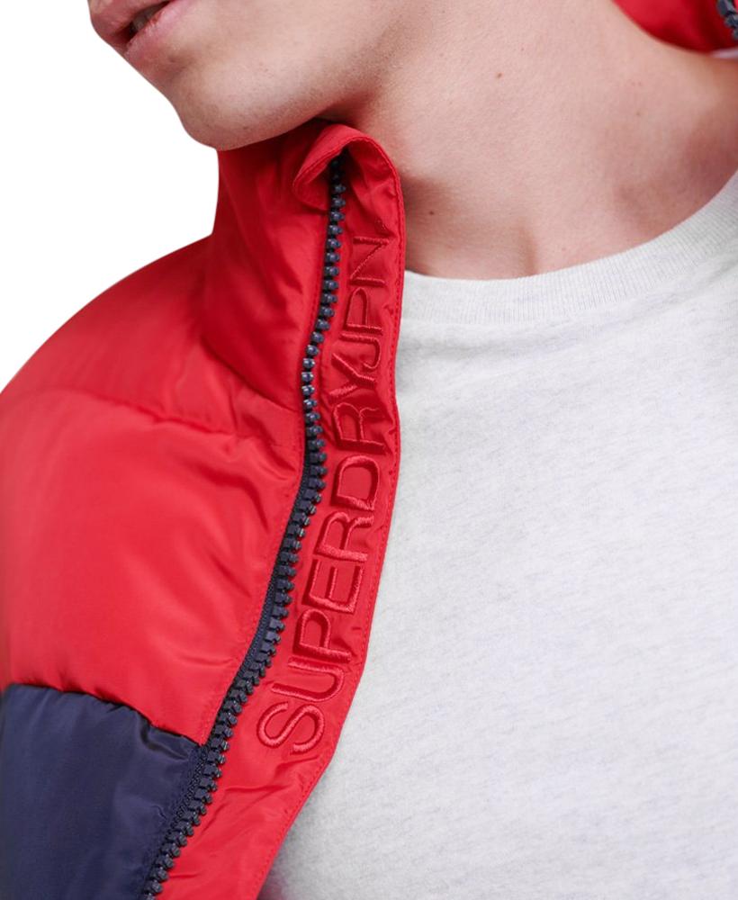 Details about Superdry Mens Color Stripe Sports Puffer Jacket