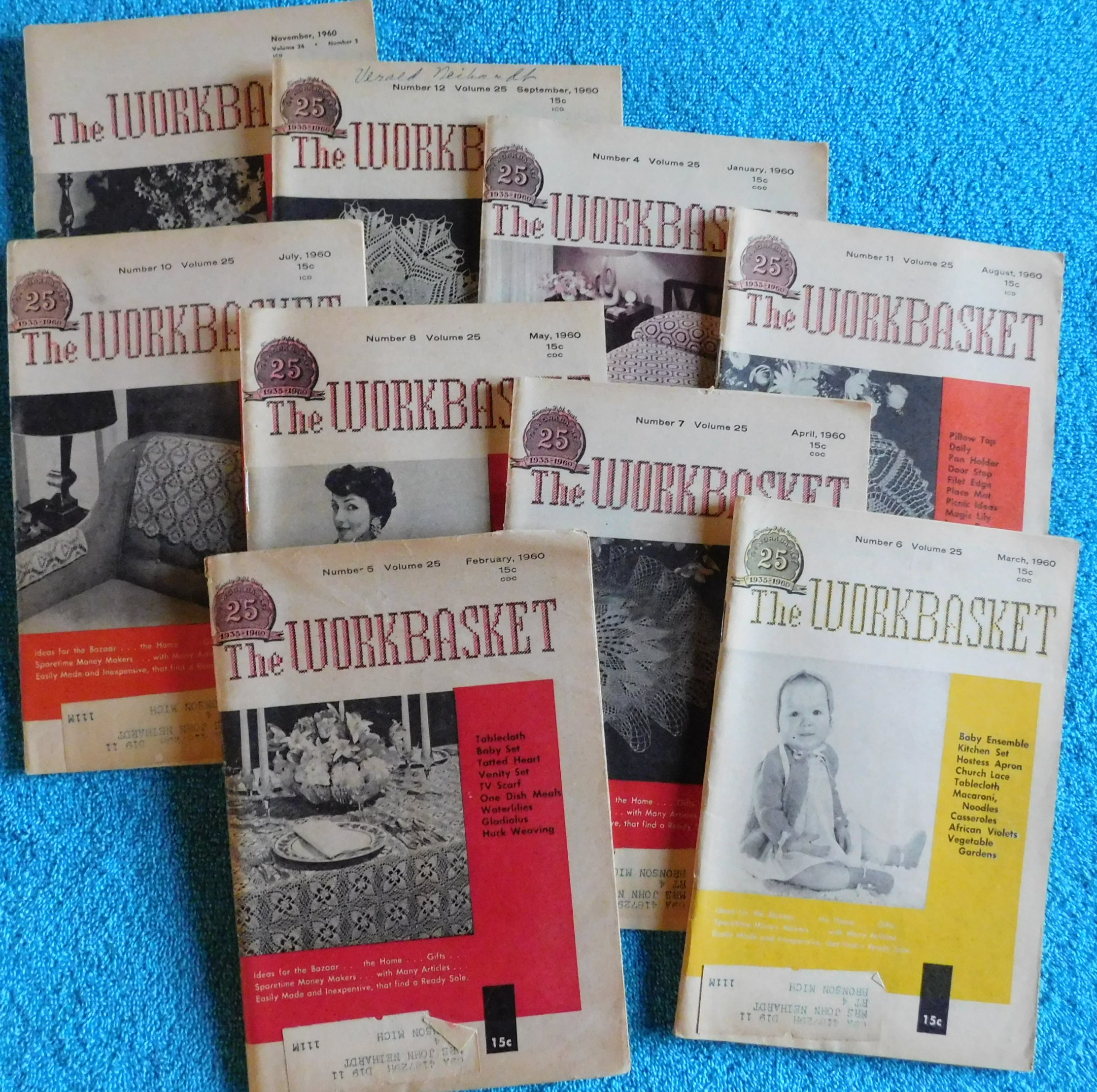 Lot of 9 The Workbasket Magazines from 1960 | eBay