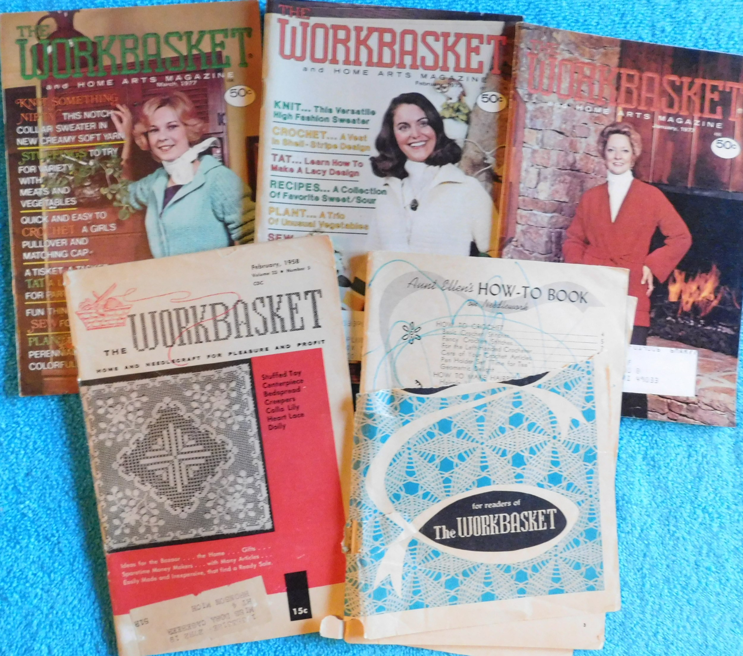 Lot of 5 The Workbasket Magazines from 1954, 1958 & 1977 | eBay