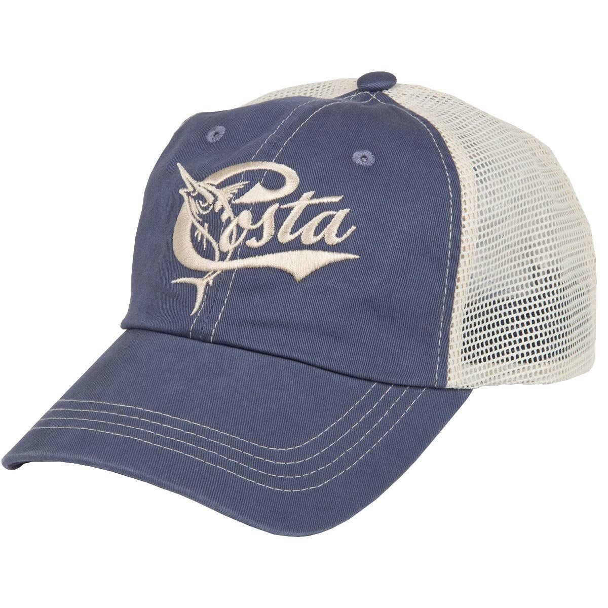 2a0d1b76644 Details about Costa Del Mar Retro Trucker Ball Cap