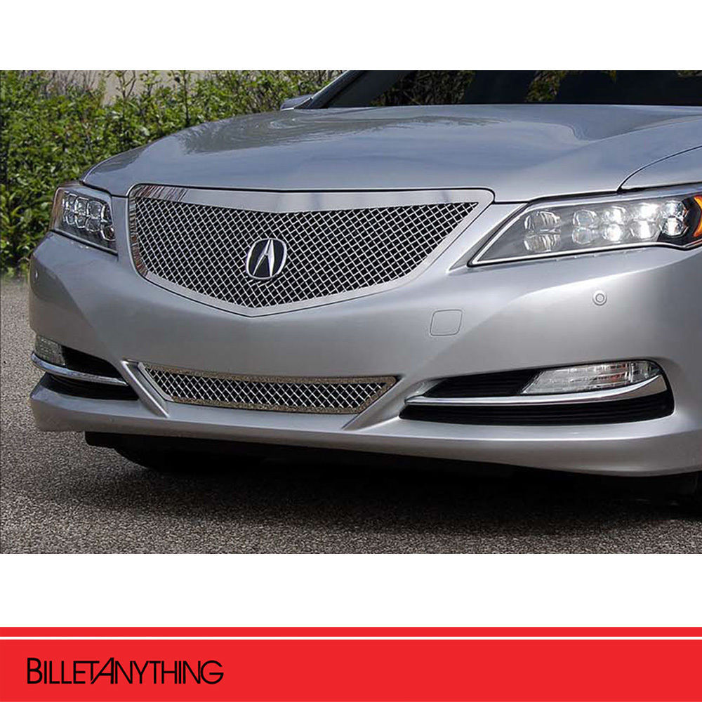 Fits 2014-2016 Acura RLX 2 Pc Heavy Mesh Chrome Grille