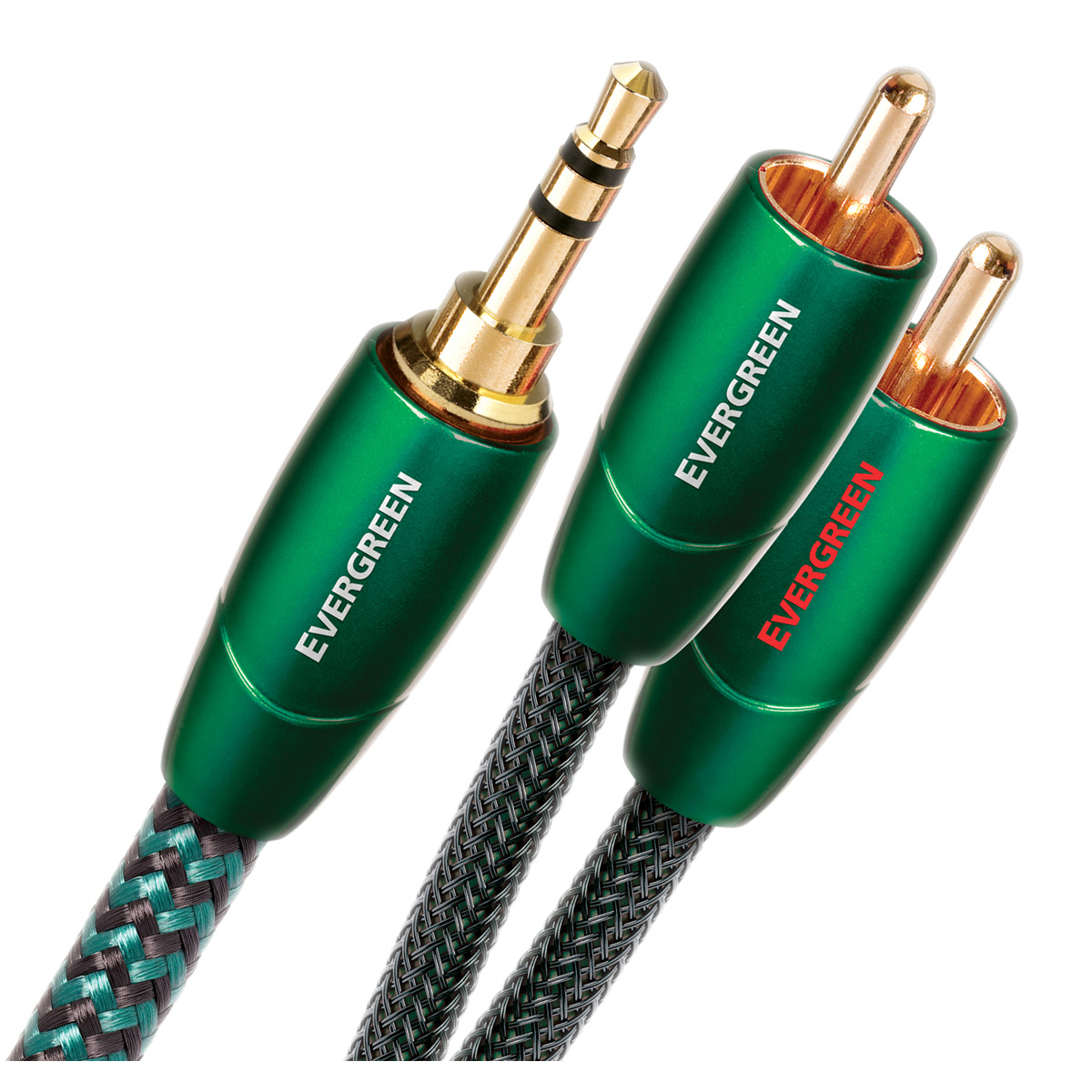 AudioQuest Evergreen 1m RCA to RCA Cable 3.28 ft. 2-Pack