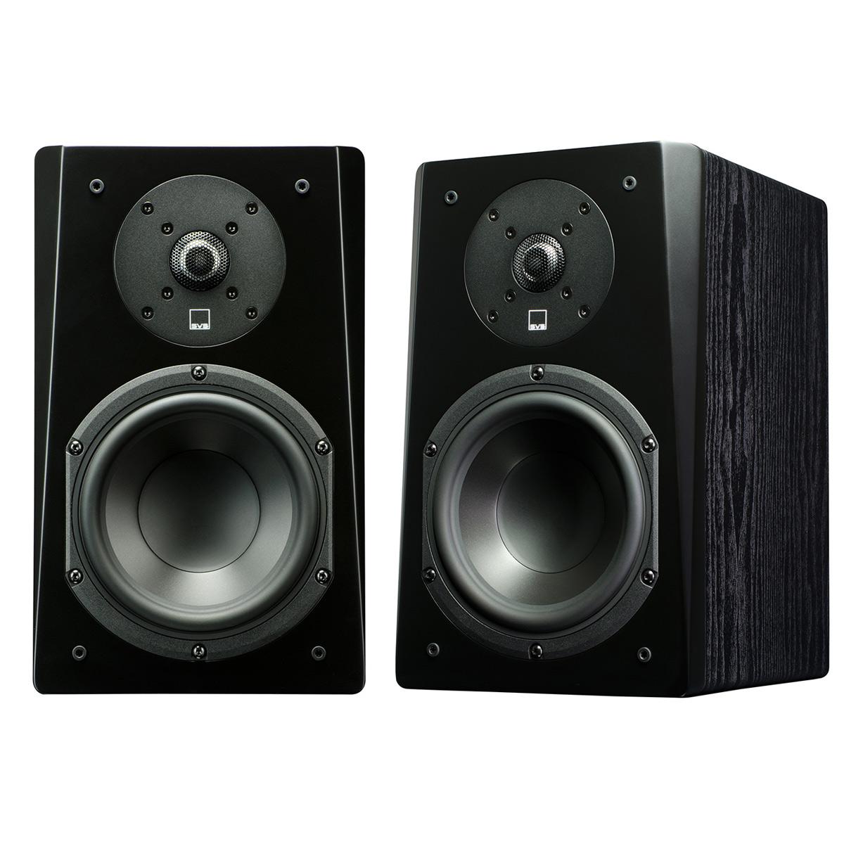 SVS Prime Bookshelf Speakers - Pair (Premium Black Ash)