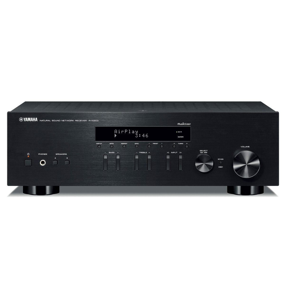 Yamaha r n303 network stereo receiver with musiccast for Yamaha multi zone receiver