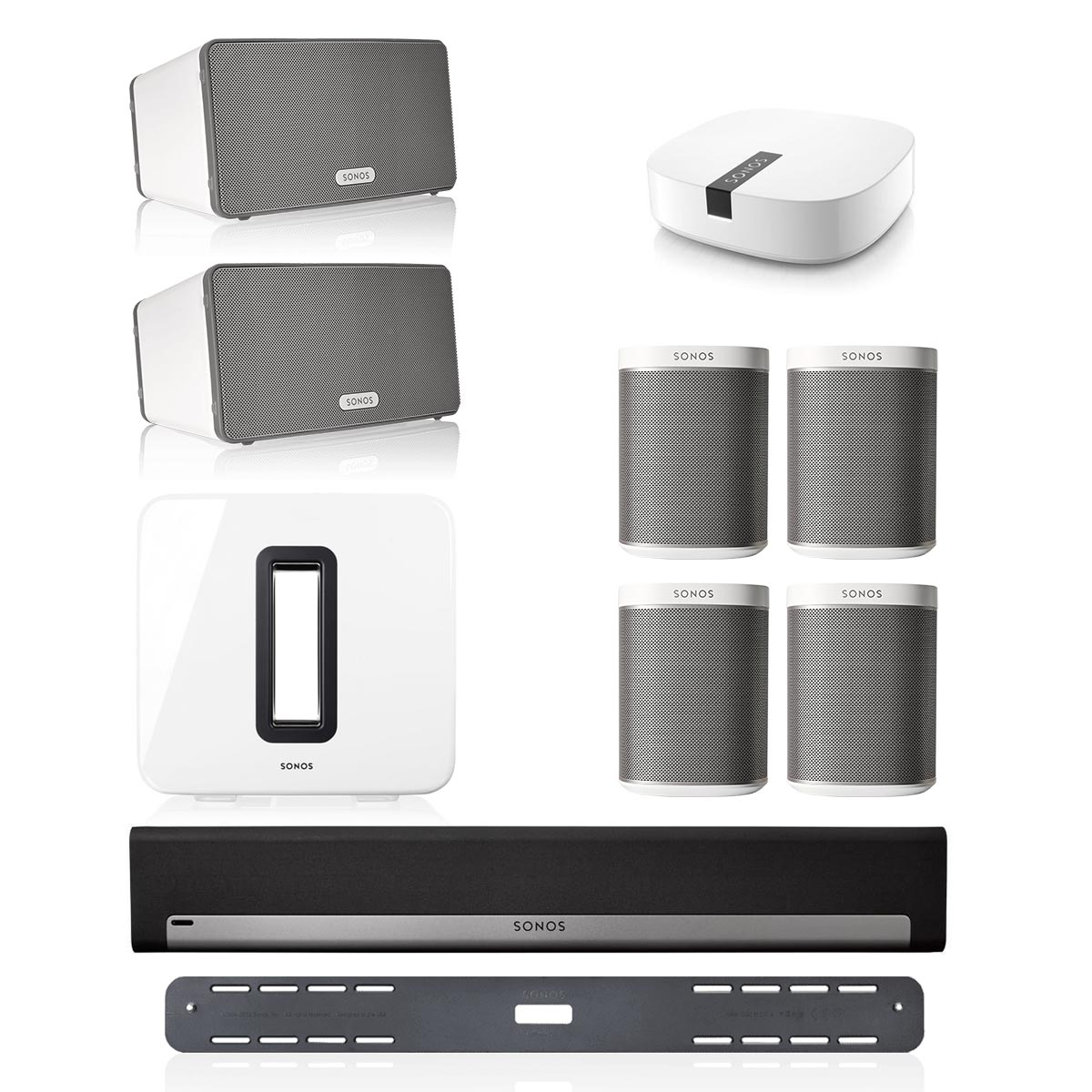 Sonos Playbar Multiroom Whole House Home Theater System W Play1 Wiring Diagram