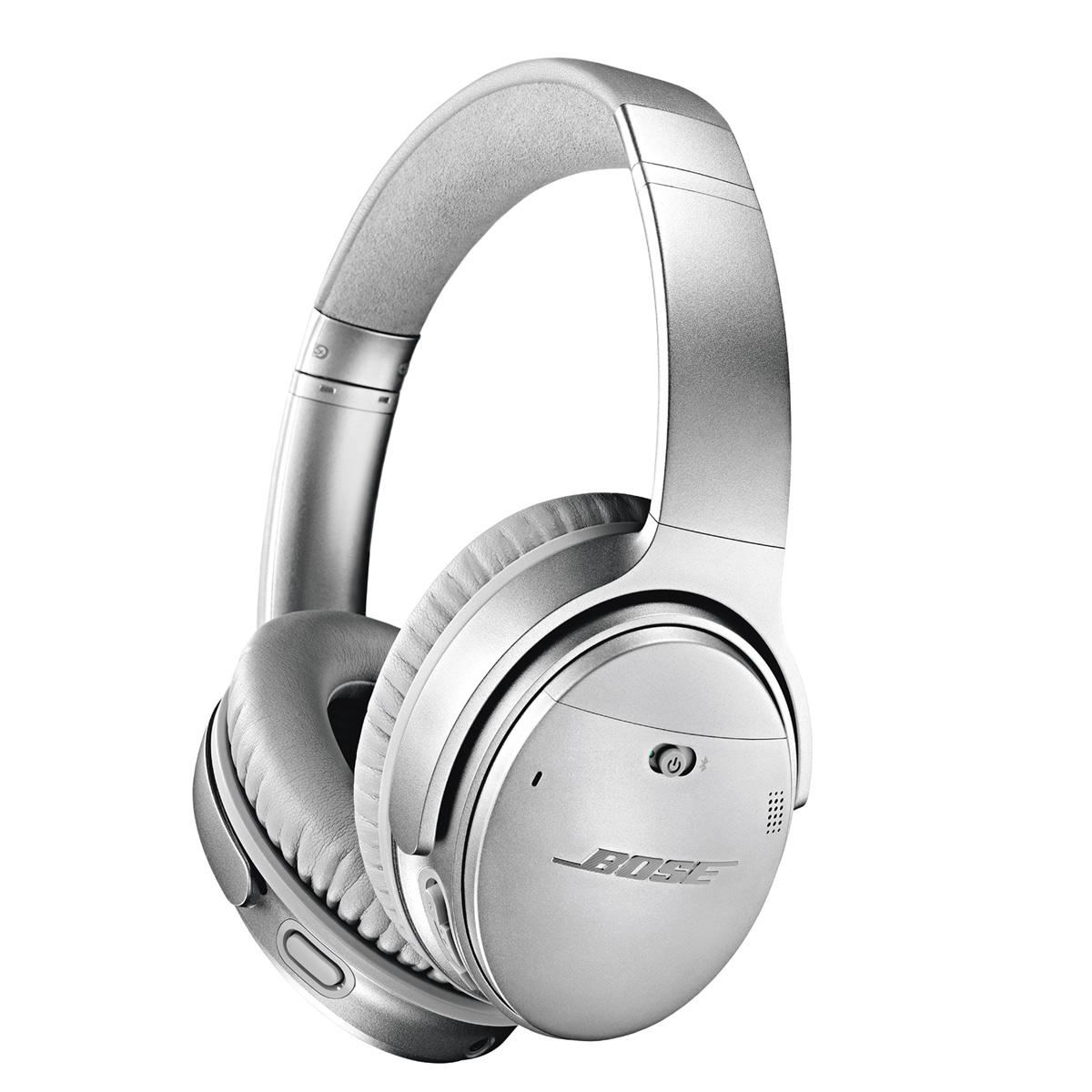 Bose QuietComfort 35 Wireless Noise-Cancelling Headphones II (Silver)