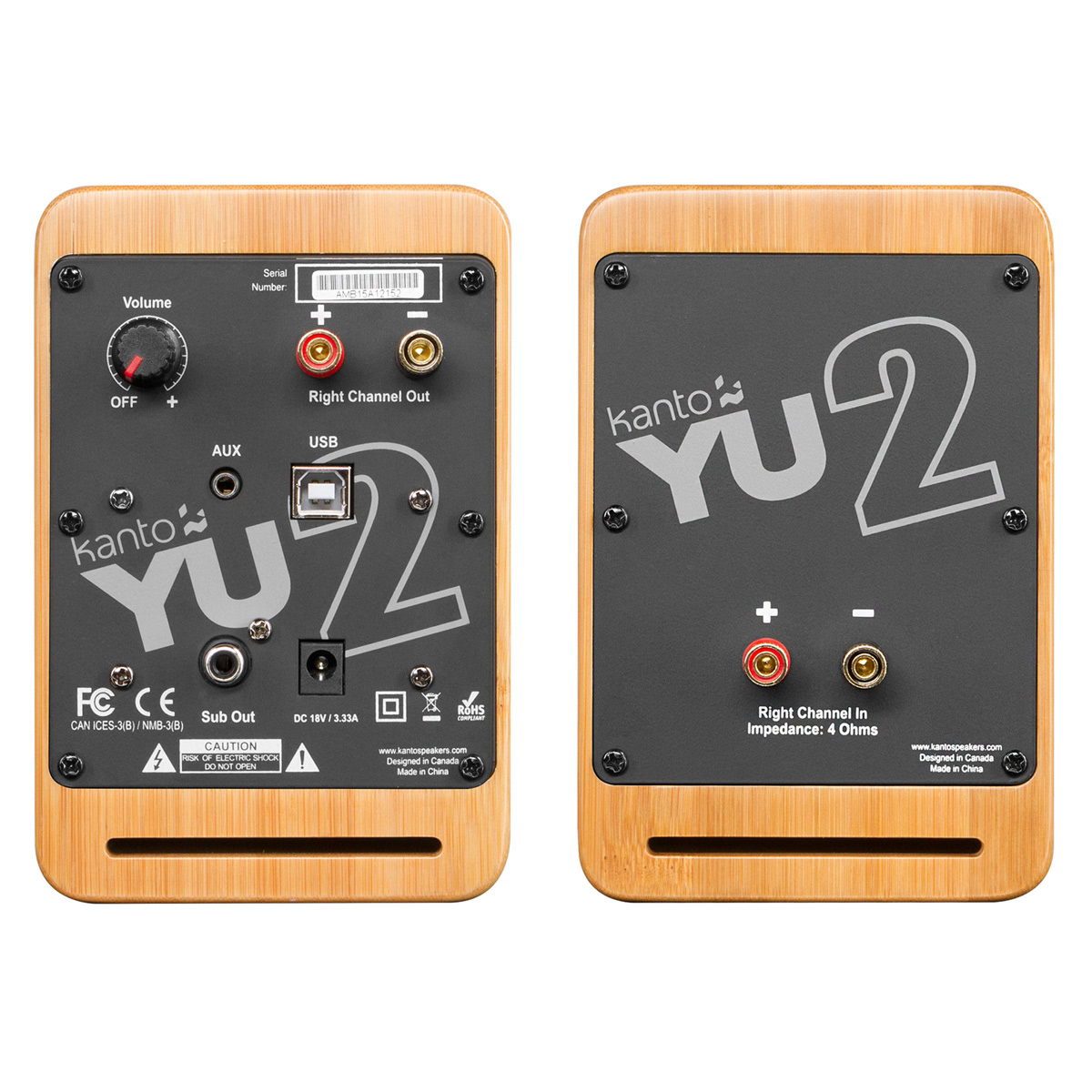 thumbnail 7 - Kanto YU2 Powered Desktop Speakers - Pair