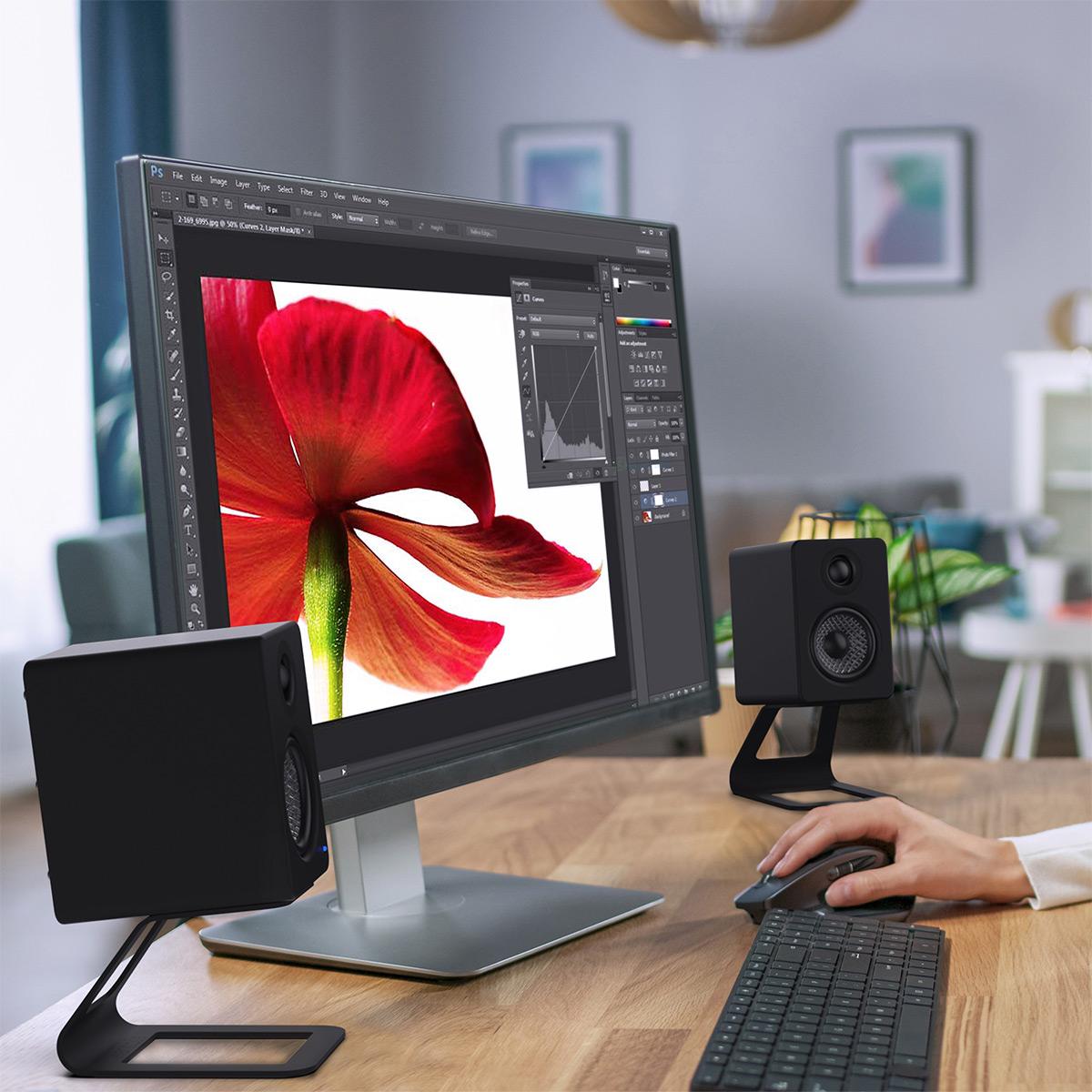 thumbnail 9 - Kanto YU2 Powered Desktop Speakers - Pair