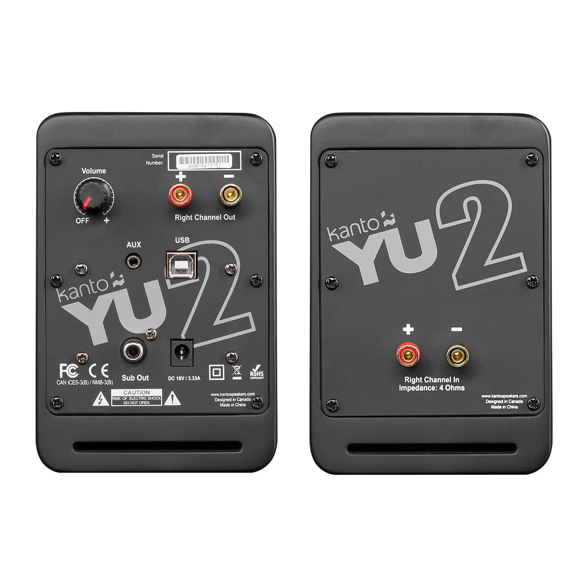 thumbnail 10 - Kanto YU2 Powered Desktop Speakers - Pair