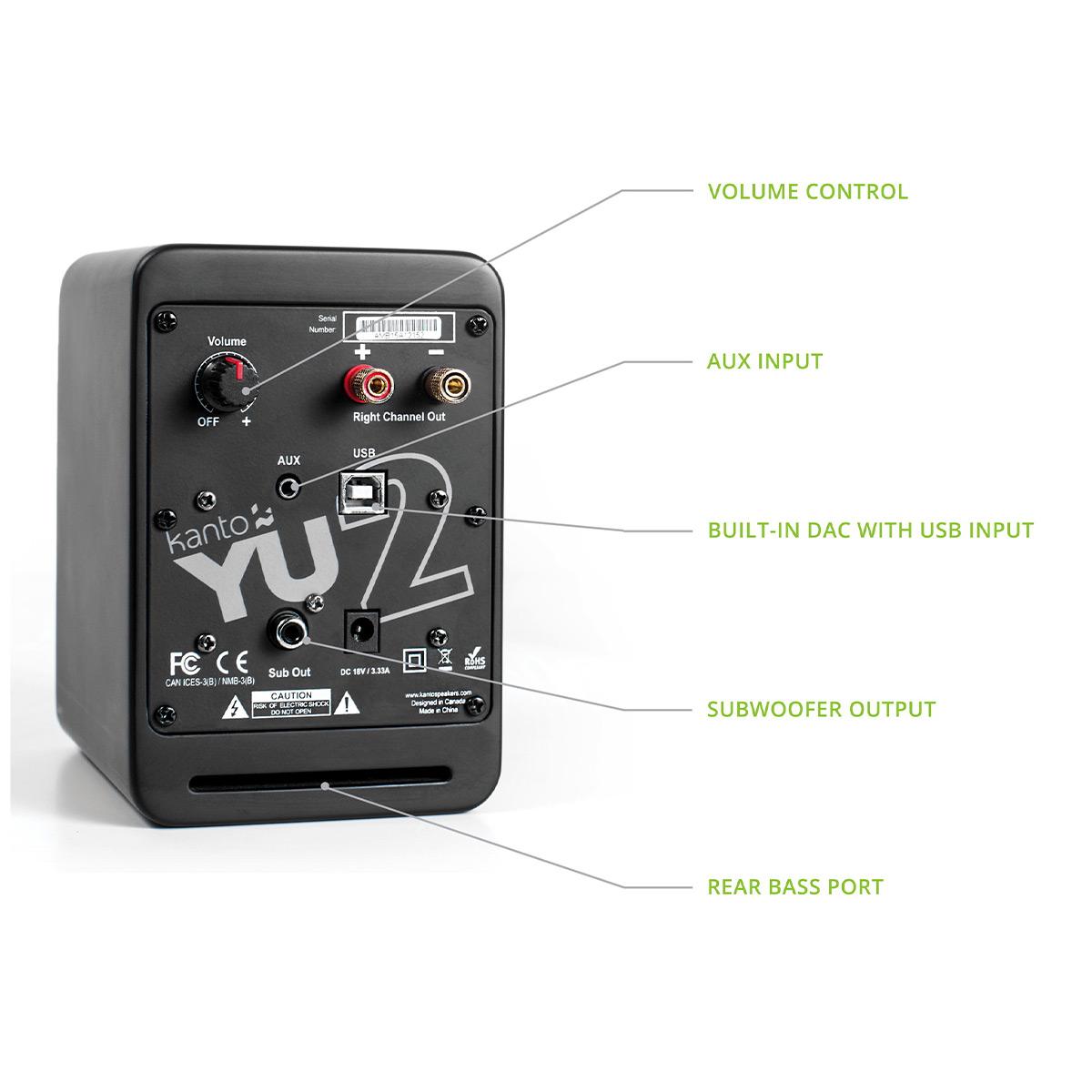 thumbnail 11 - Kanto YU2 Powered Desktop Speakers - Pair