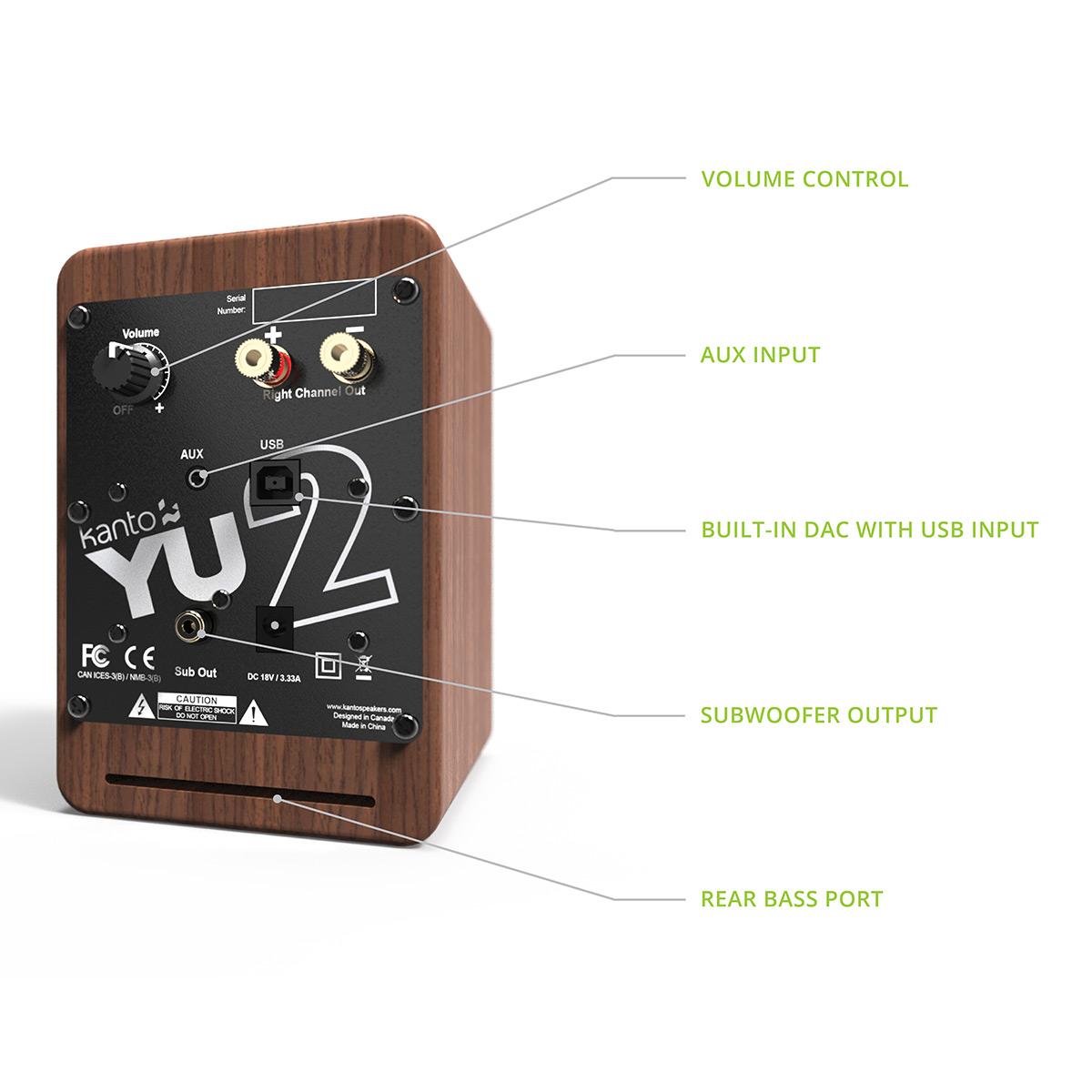 thumbnail 16 - Kanto YU2 Powered Desktop Speakers - Pair