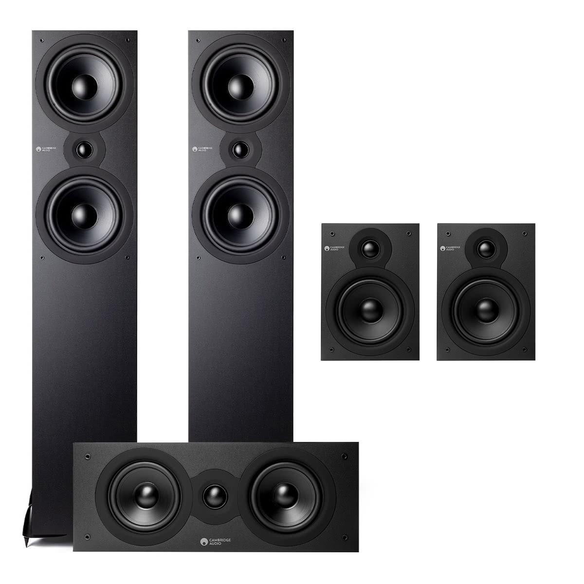 Cambridge Audio SX 5.0 Home Theater Speaker Package (Black)