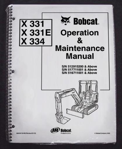 Bobcat 331 maintenance Manual