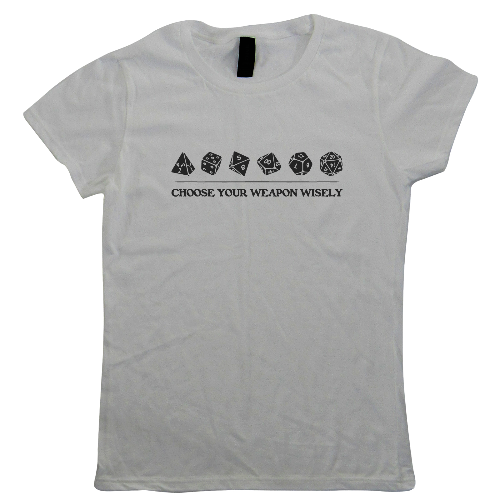 Choose-Your-Weapon-Wisely-Womens-T-Shirt-Hobbies-DND-Dungeon-Dragons-Gift-Her thumbnail 10