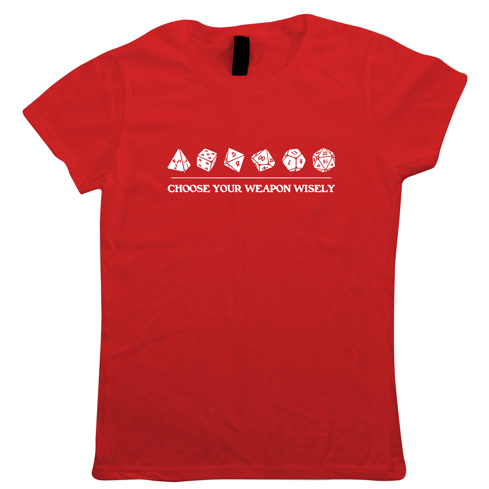 Choose-Your-Weapon-Wisely-Womens-T-Shirt-Hobbies-DND-Dungeon-Dragons-Gift-Her