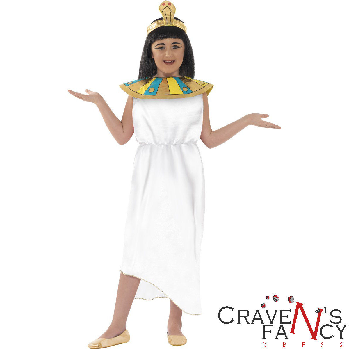Kids Cleopatra Costume Girls Queen of the Nile Egyptian Book Day Fancy Dress New  sc 1 st  eBay & Kids Cleopatra Costume Girls Queen of the Nile Egyptian Book Day ...