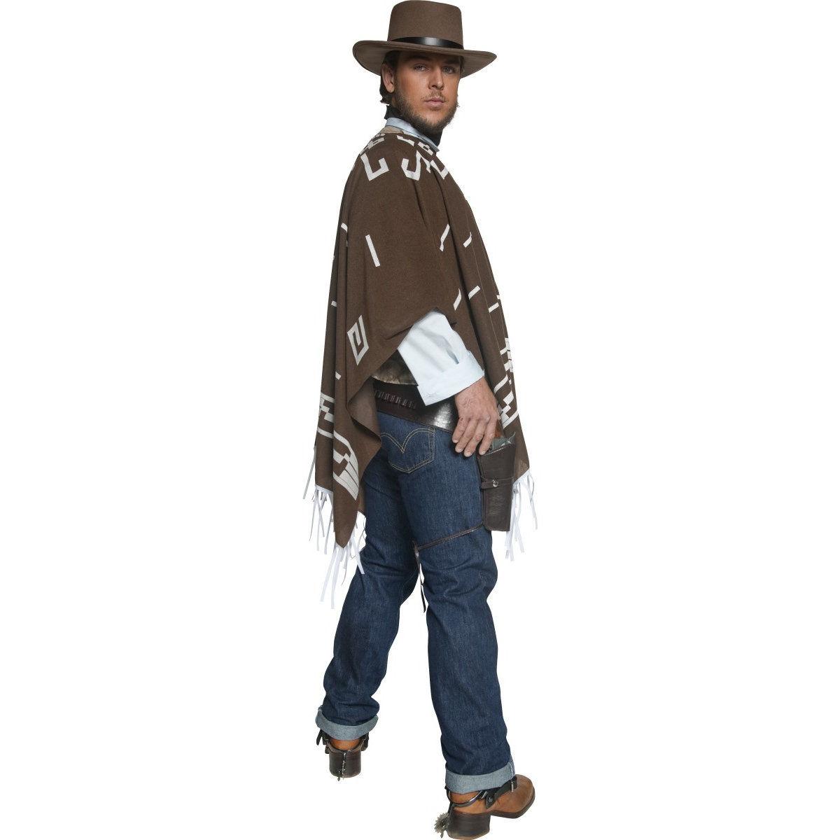 Wild West Gunman Costume Mens Cowboy Clint Eastwood Fancy