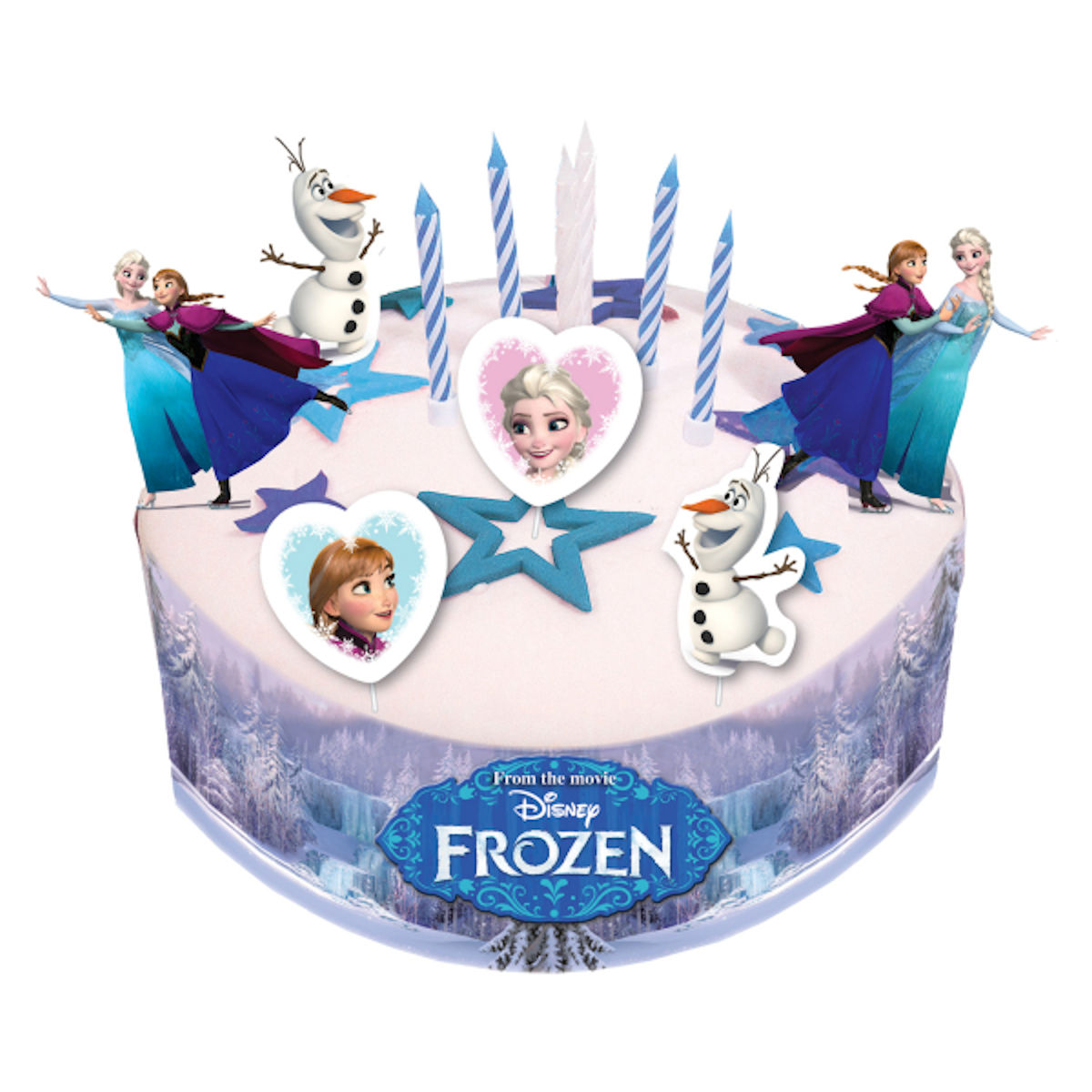 Disney Frozen Birthday Cake Decorating Kit Party with ...
