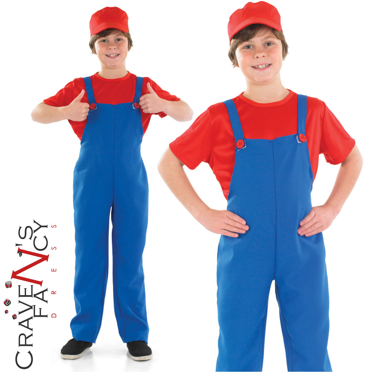 From the classic Mario Brothers games by Nintendo! Now you can be Mario! One half of the super Mario brothers. Ideal for Book Week. Costume includes  sc 1 st  eBay & Kids Super Mario Bros Costume Video Game Boys Childrens Fancy Dress ...