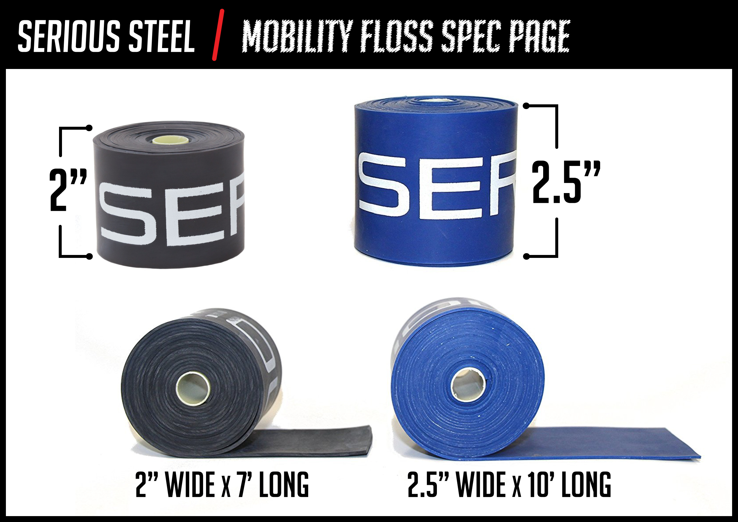 Serious Steel Fitness Mobility FlossExtra Large Recovery Floss Band