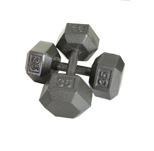 Troy-Barbell-USA-Sports-5-100-lb-Grey-Hex-Set-5-lb-Inc-amp-TDR3-Dumbbell-Rack thumbnail 2