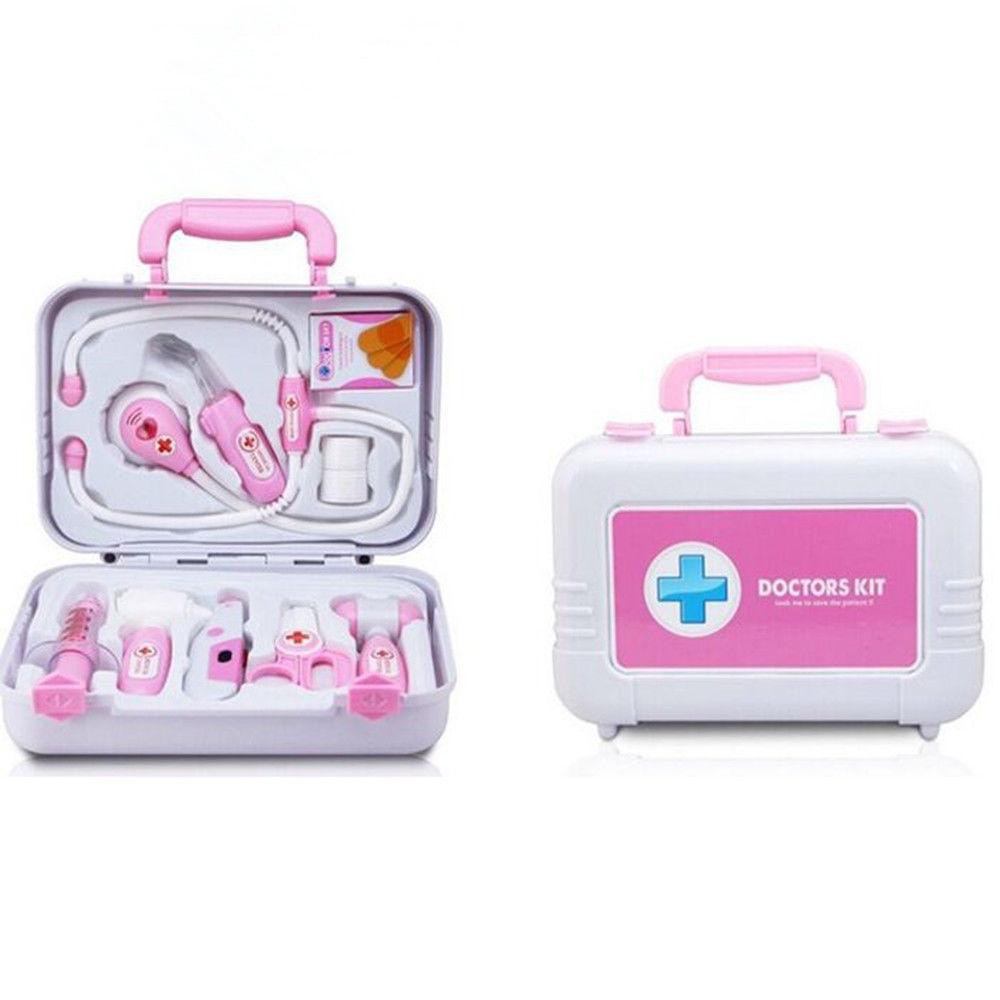 blau pink arzt doktor doktorkoffer arztkoffer kinderarzt f r kinder spielzeug ebay. Black Bedroom Furniture Sets. Home Design Ideas