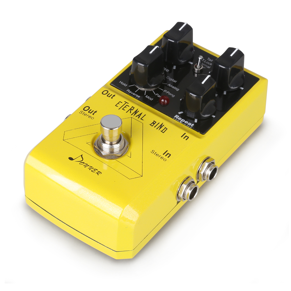 donner electric guitar effect pedals delay overdrive fuzz digital reverb pedal ebay. Black Bedroom Furniture Sets. Home Design Ideas