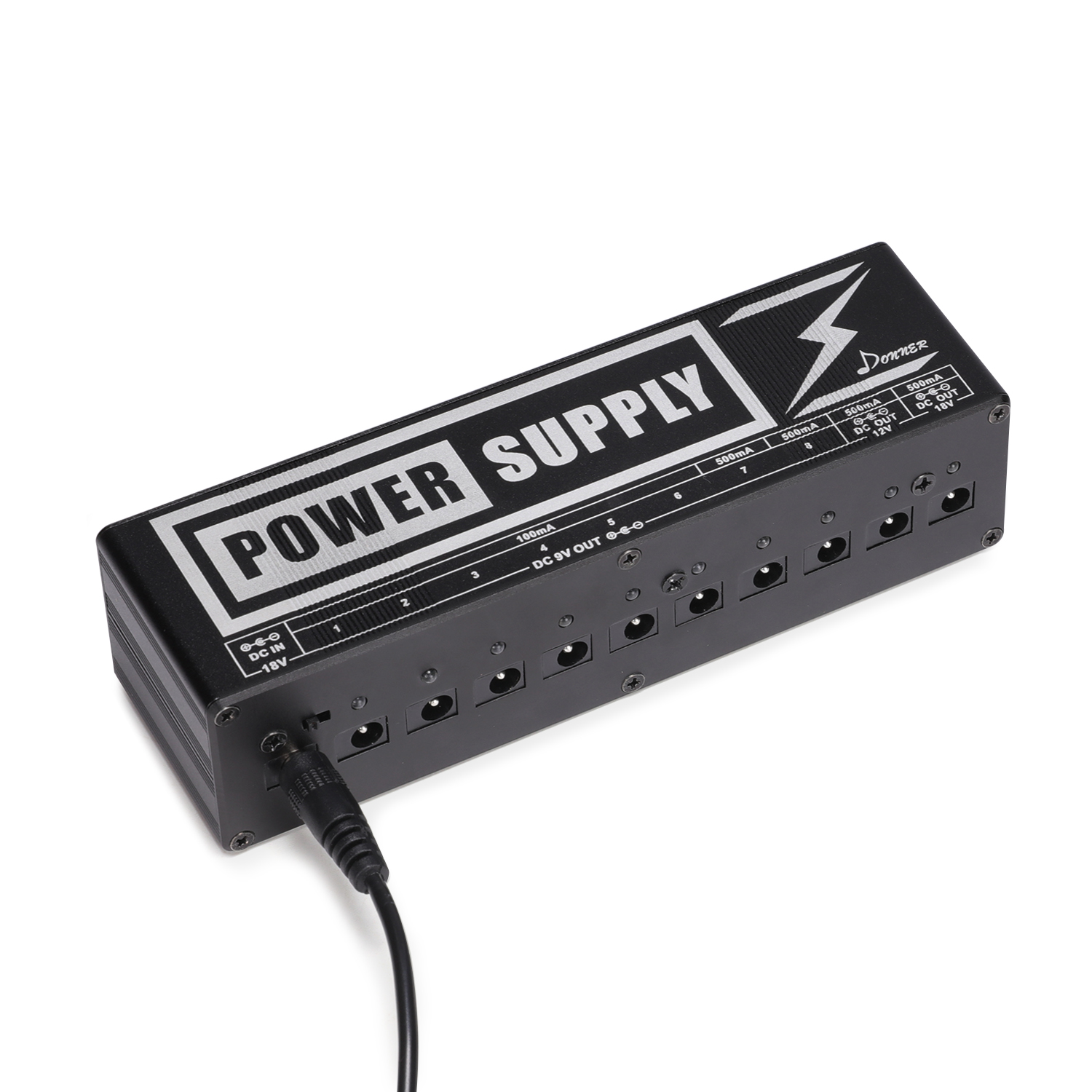 donner pedal 10 isolated output 9v 12v mini guitar effects power supply. Black Bedroom Furniture Sets. Home Design Ideas