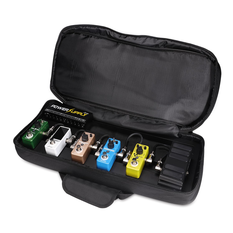 donner super guitar pedal board case db 2 aluminium pedalboard bag ebay. Black Bedroom Furniture Sets. Home Design Ideas