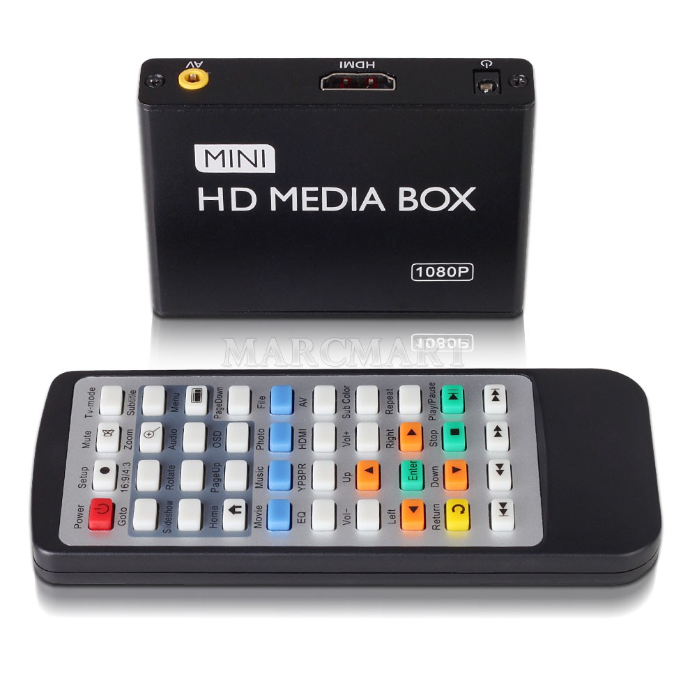 mini full hd 1080p media box usb media player with hdmi av. Black Bedroom Furniture Sets. Home Design Ideas