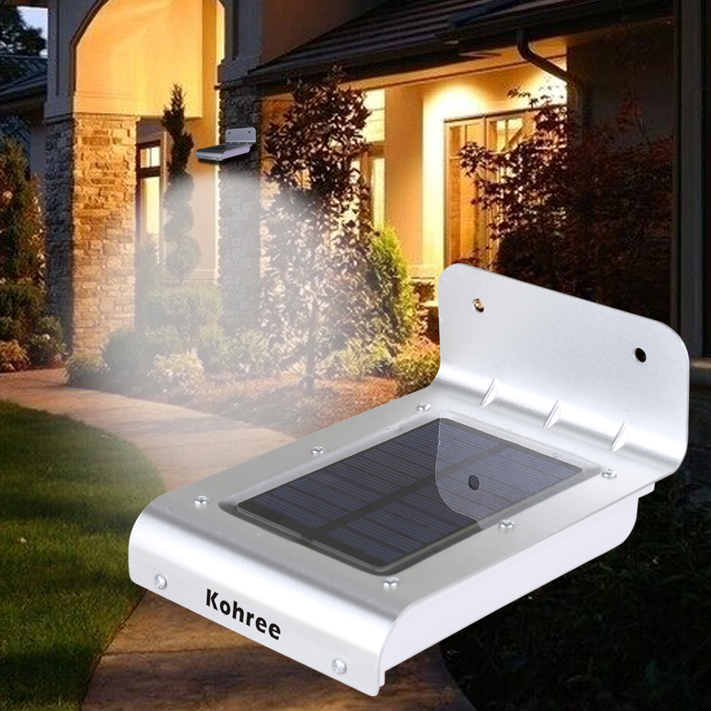 Patio Lights Wireless: 16 LED Motion Sensor Solar Powered Outdoor Light