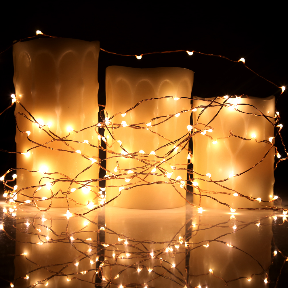 New 40ft 120 Micro LED String Lights On Copper Wire For