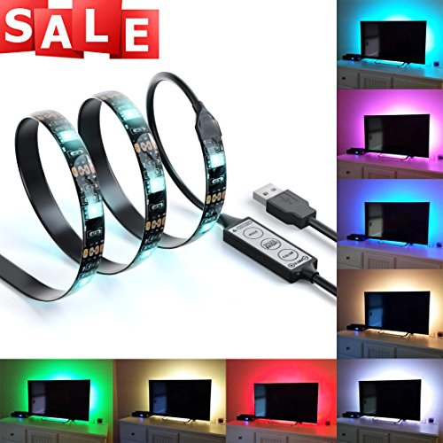 Rgb Led Home Theater Accent Lighting Kit: LED Home Theater TV BackLight Accent Back Lighting Kit