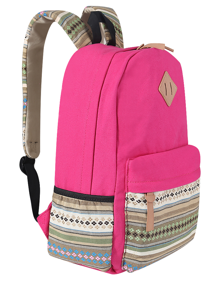 b08eb4292b Women Canvas Travel Shoulder Bag Hiking Backpack School Book Bag ...