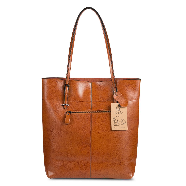 Kattee Women Leather Shoulder Bag Tote Purse Handbag