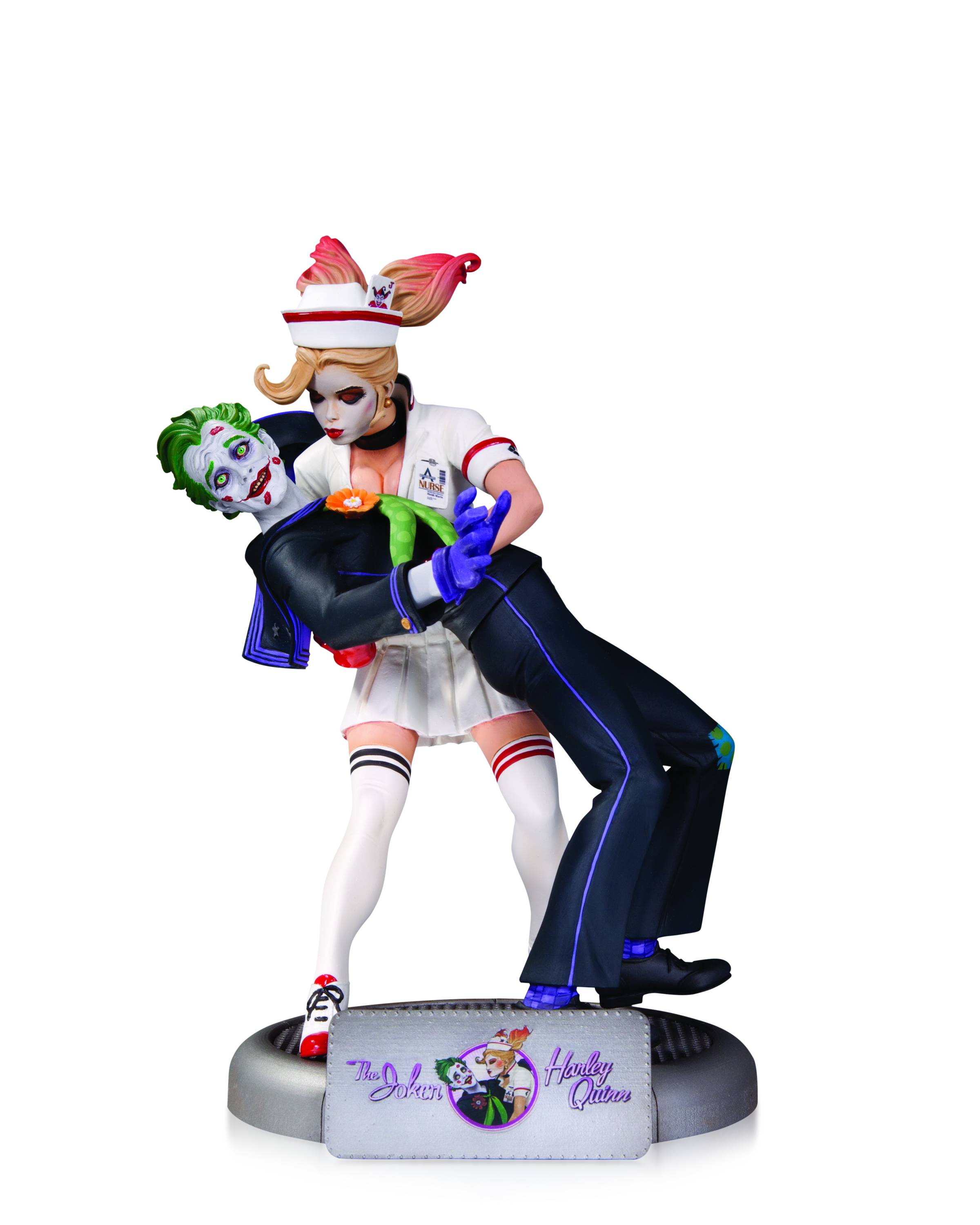 931619886979 Details about DC Collectibles DC Comics Bombshells  The Joker and Harley  Quinn Statue
