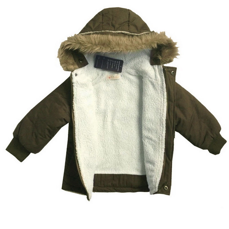Toddler Baby Boys Warm Winter Hoodies Coats Kids Snowsuit