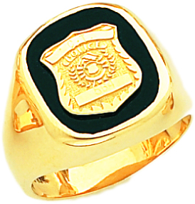 Mens 10k Or 14k Yellow Gold Police Officer Badge Solid