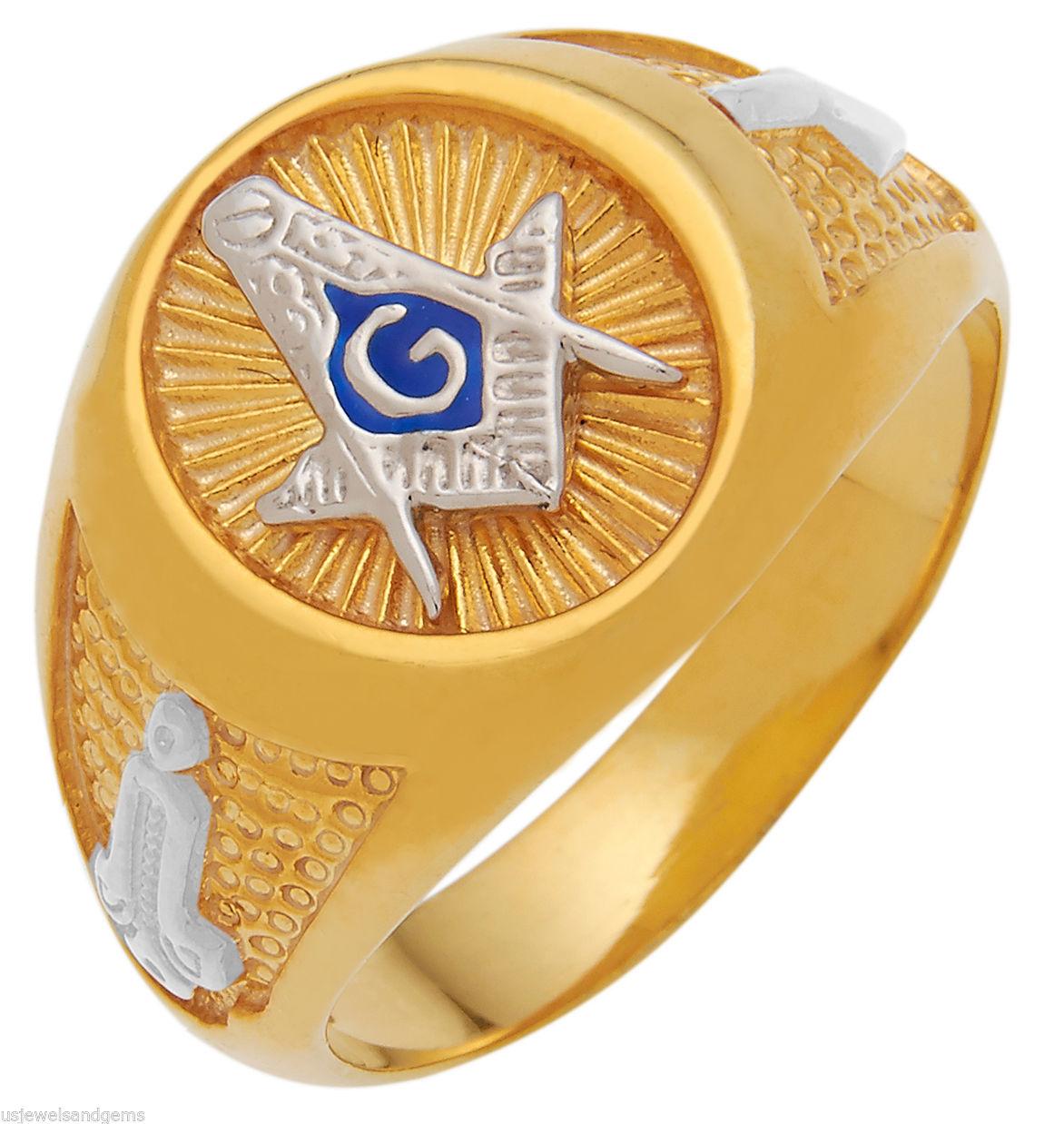 Open Back 10k Or 14k Yellow Or White Gold Masonic