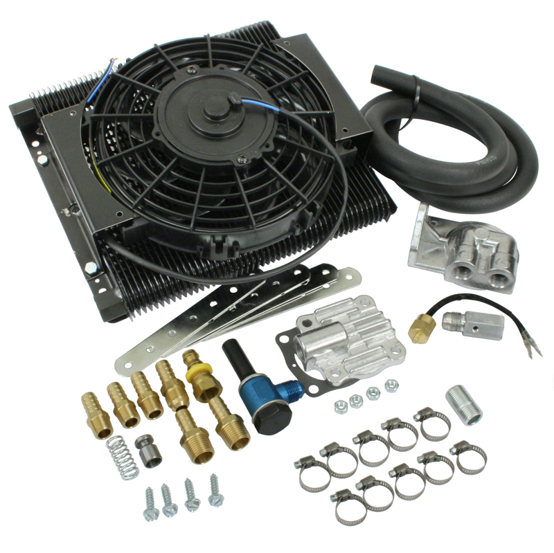 Vw Oil Cooler With Fan : Empi mesa tru cool plate full flow oil cooler kit