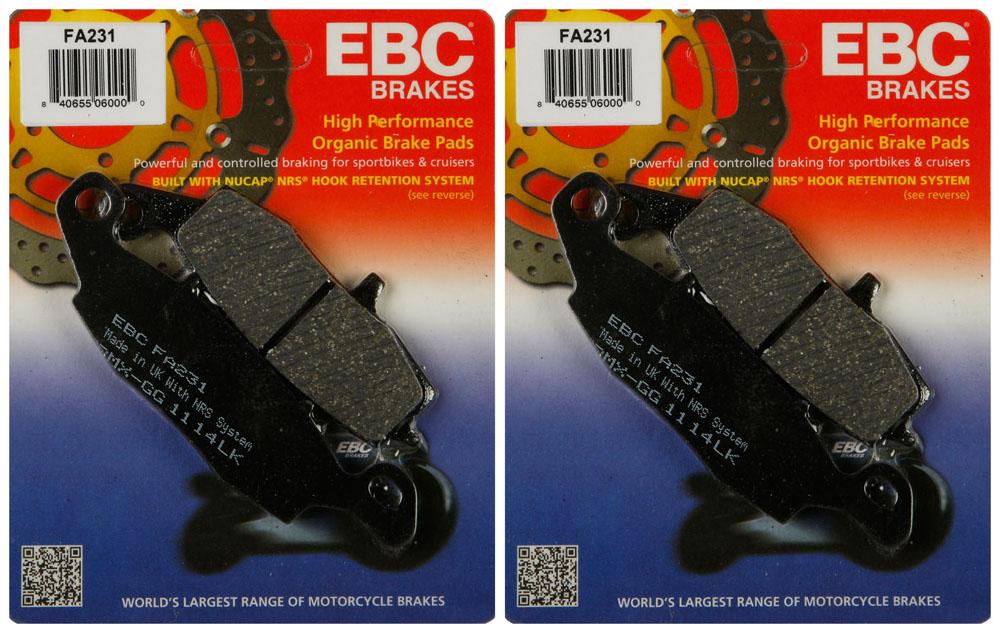 EBC Organic Front Brake Pads For Kawasaki 2012 KLE650 Versys CCF